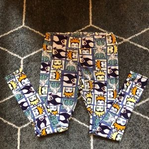 Lularoe Disney Villain TC Leggings NWOT